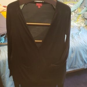 Lightweight Cardigan with Sheer Back